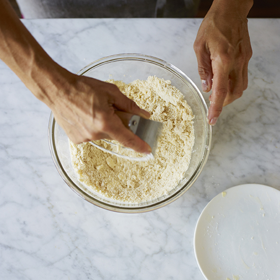 How to Make Pie Crust: Mix Gently