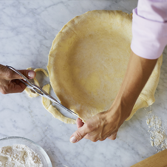 How to Make Pie Crust: Trim Edge