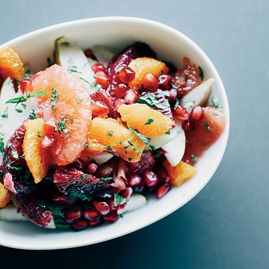 Winter Fruit Salad in Ginger-Lime Syrup