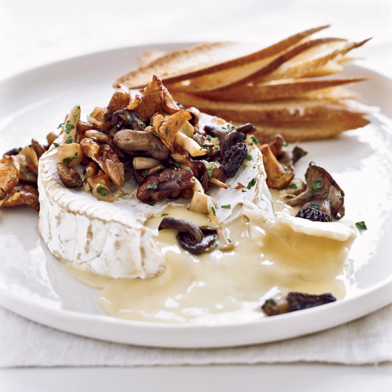 Warm Camembert with Wild Mushroom Fricassee
