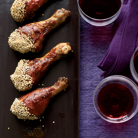 Chicken Drumsticks with Asian Barbecue Sauce