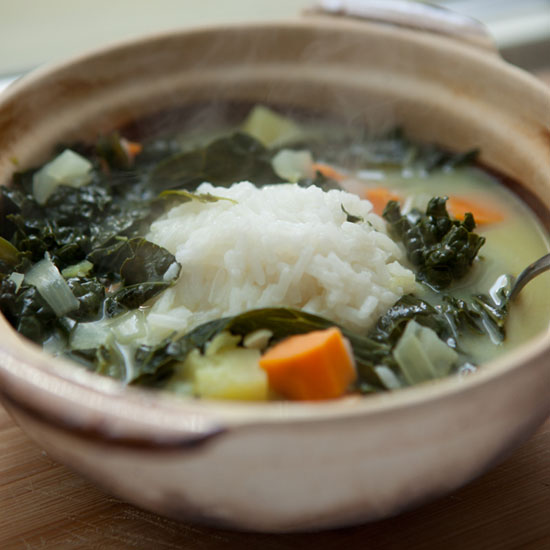 Island Kale and Sweet-Potato Soup