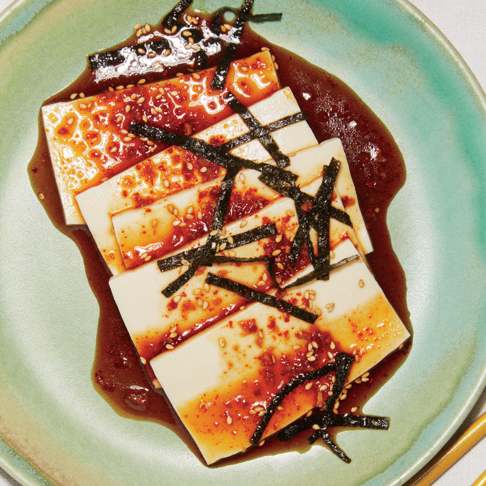 Chilled Tofu with Soy Dressing