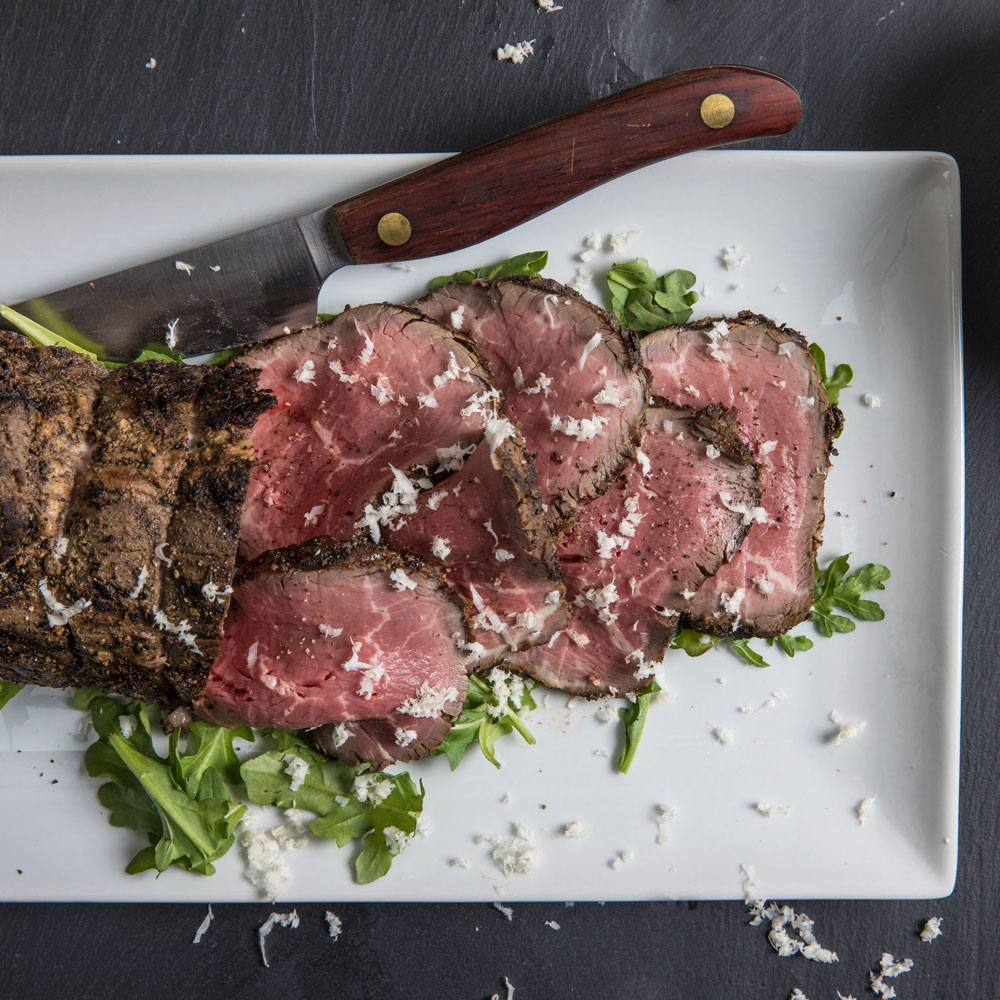 Grilled and Chilled Beef with Buttermilk-Horseradish Sauce