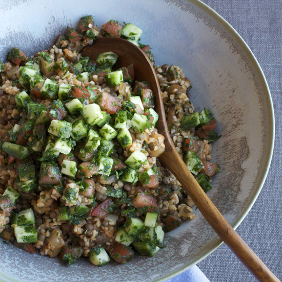 Eggplant, Lentil, and Bulgur Salad