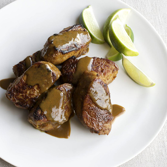 Pork Medallions with Curry-Honey Glaze