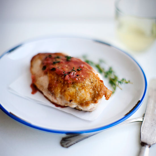 Raspberry Chicken with Thyme