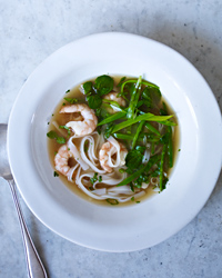 Lemongrass-Scented Noodle Soup with Shrimp