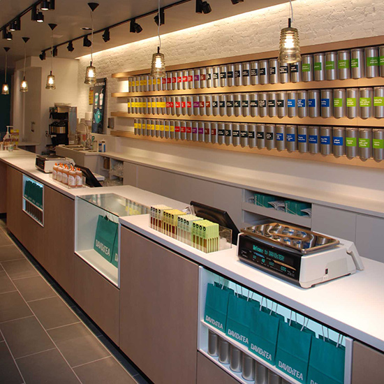 Tea Shops: DavidsTea; Canada (multiple locations)