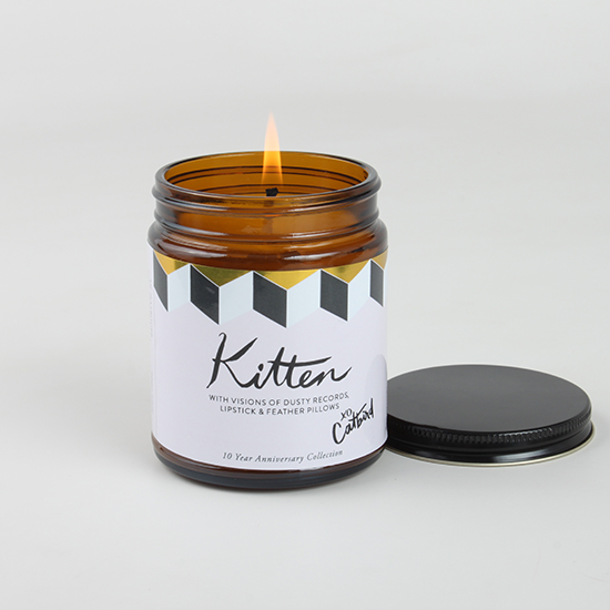 Catbird Kitten Candle