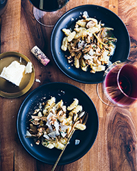 Potato Gnocchi with Wild Mushroom Ragu and Hazelnuts