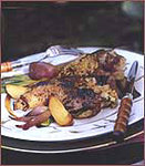 Devil's Chicken with Mustard and Bread Crumbs