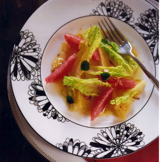 Citrus Salad with Saffron Dressing