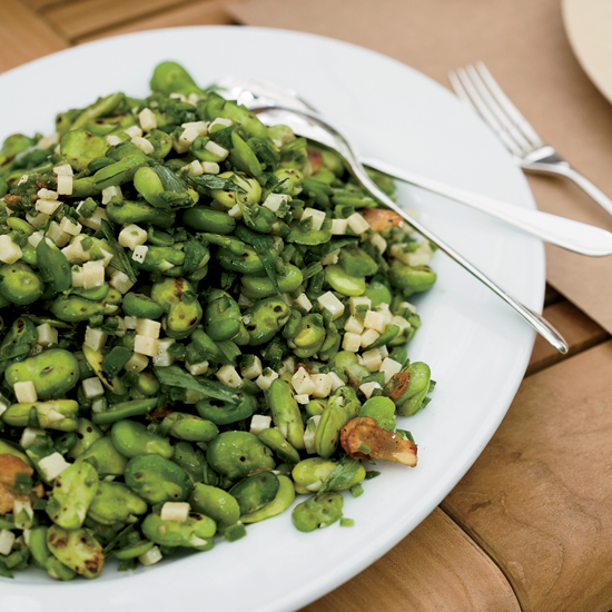 Charred Fava Bean Salad with Lemon and Tarragon