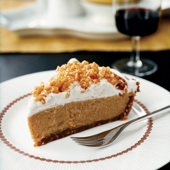 Caramel Cream Pie with Crispy Rice Topping