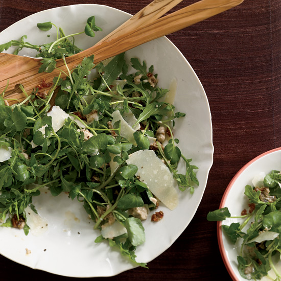 Mixed Green Salad with Fig-Yogurt Dressing