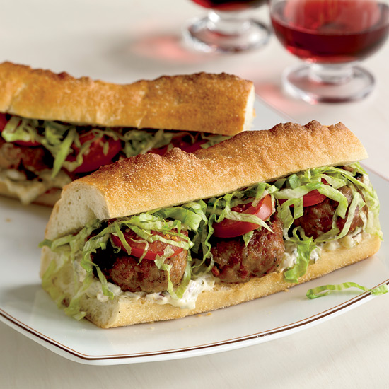 Spicy Pork Po'Boys