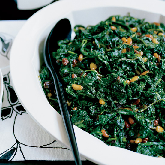 Sweet-and-Sour Catalan Spinach
