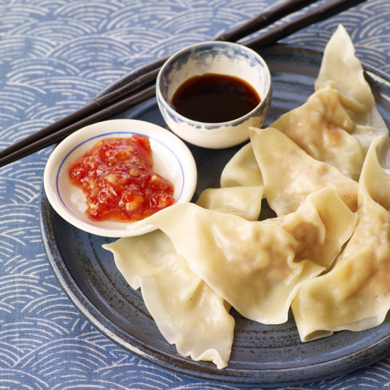 Shrimp-and-Pork Dumplings with Bamboo Shoots