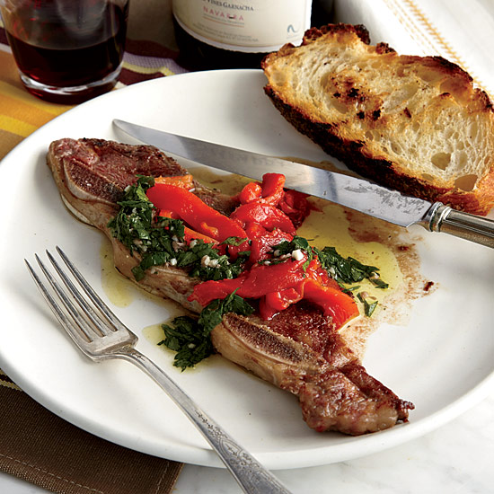 Grilled Short Ribs with Anchovy Vinaigrette