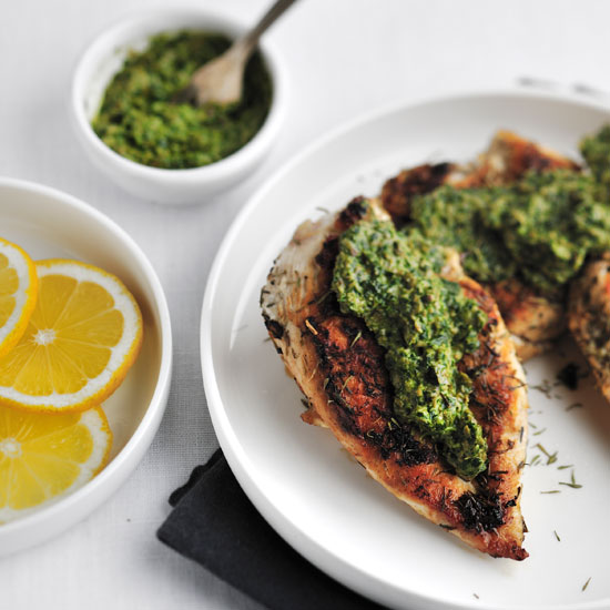 Sautéed Chicken Breasts with Salsa Verde