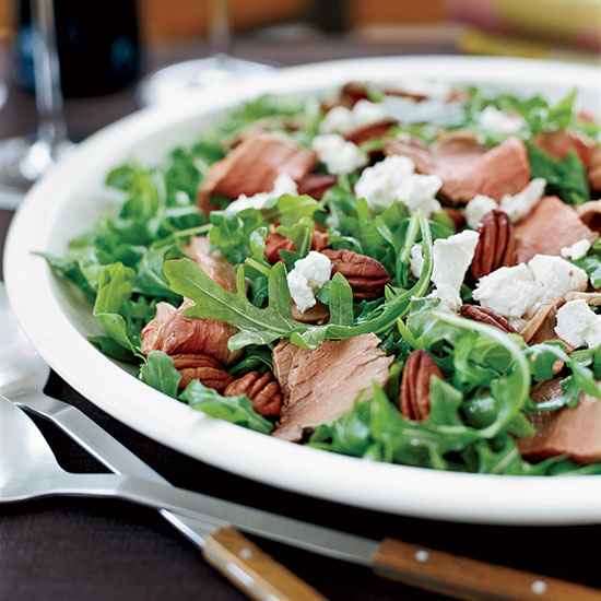 Lamb Salad with Arugula and Raspberry Vinaigrette