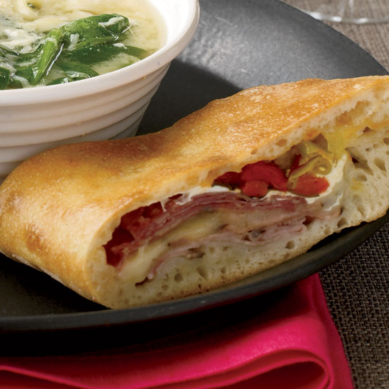 Ham, Soppressata and Two-Cheese Stromboli