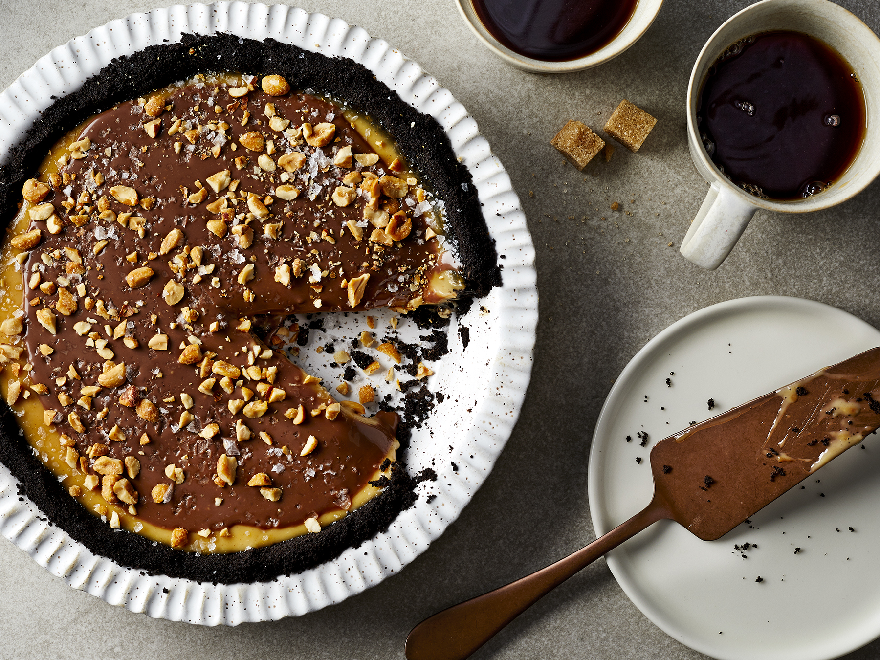 Peanut Butter–Chocolate Pie