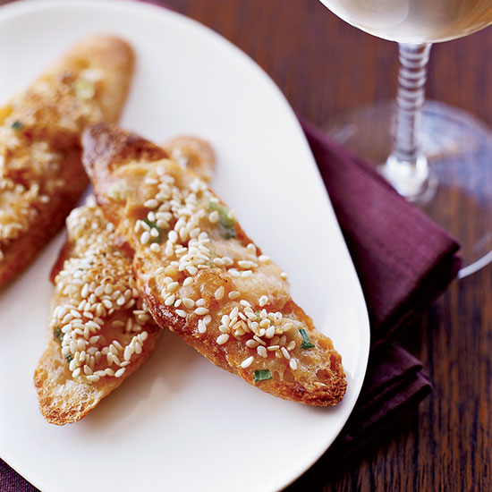 Shrimp and Water Chestnut Toasts