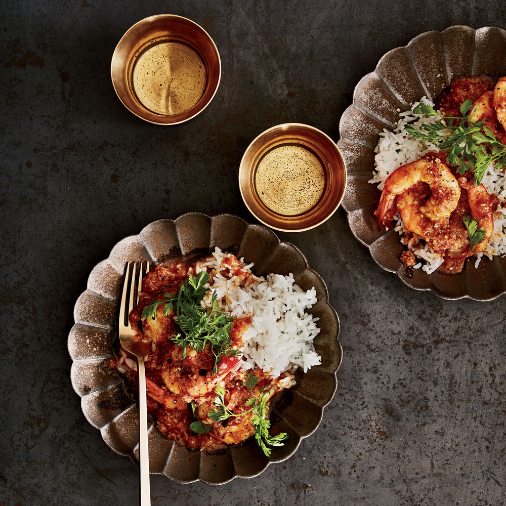 Shrimp Curry with Coconut, Mustard Seeds and Chiles