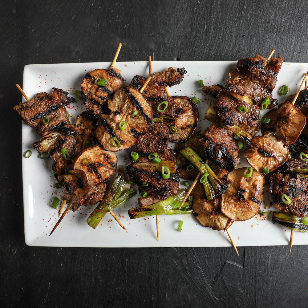 Vinegar-Marinated Beef Yakitori