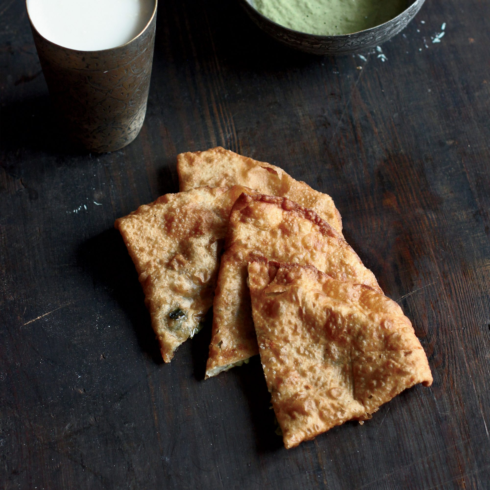 Leek-and-Scallion Fry Breads