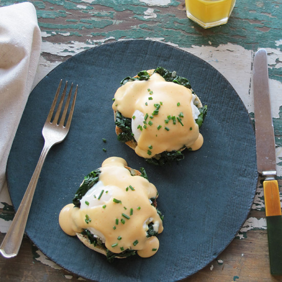 Eggs Florentine with Smoky Mornay Sauce