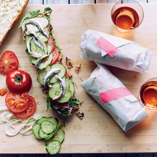 Provençal Tuna Sandwiches with Fennel Mayo