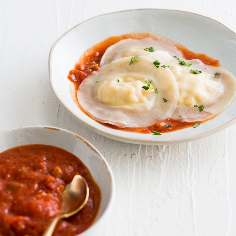 Easy Wonton Corn and Ricotta Ravioli