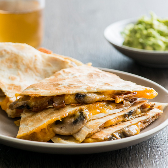 Mushroom and Bacon Quesadillas