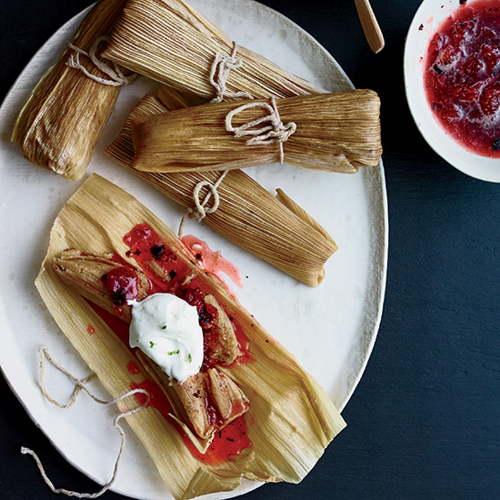 Day 5: Burnt Strawberry Tamales