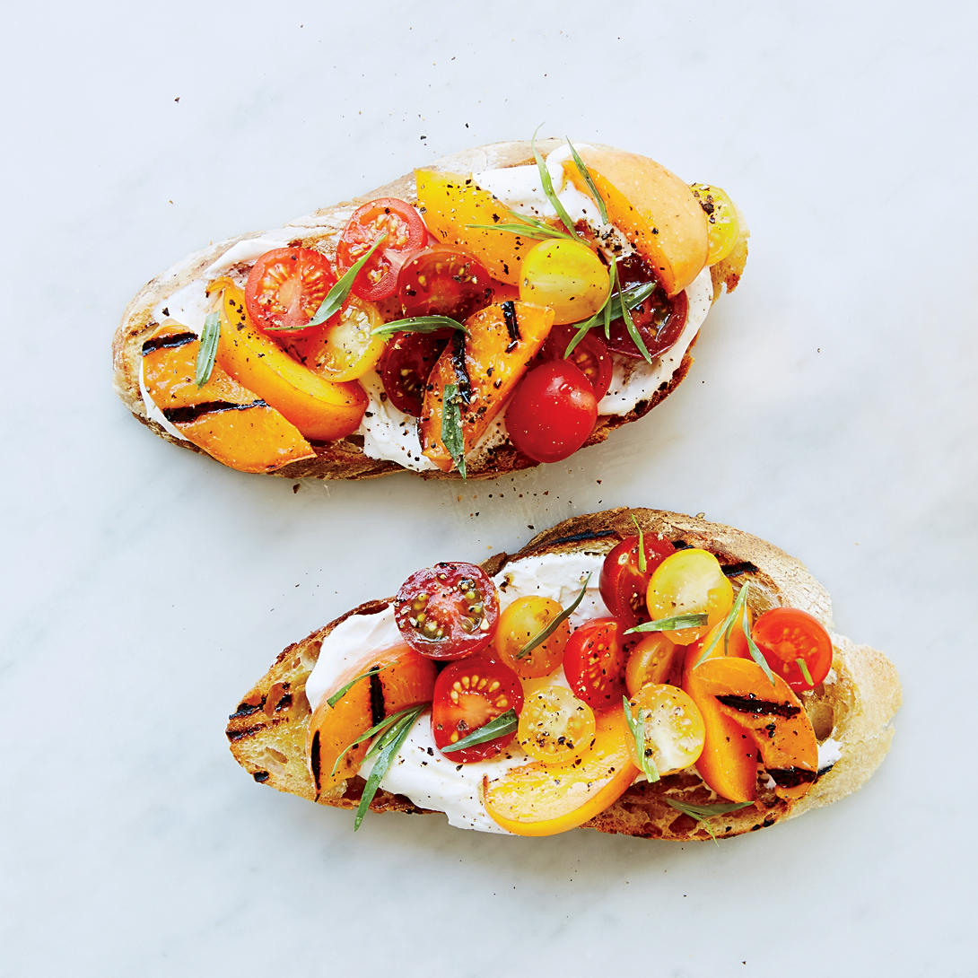 Apricot-and-Ricotta Tartines