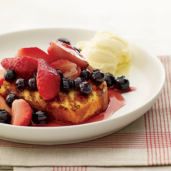 Mixed Berry Hobo Packs with Grilled Pound Cake
