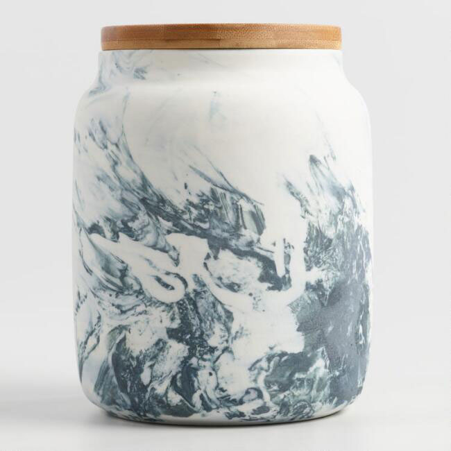 Marble Pattern Ceramic Storage Container