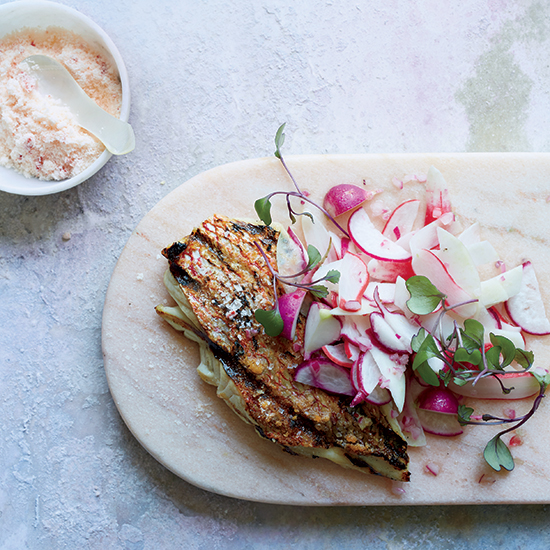 Grilled Snapper with Pink Chile Salt