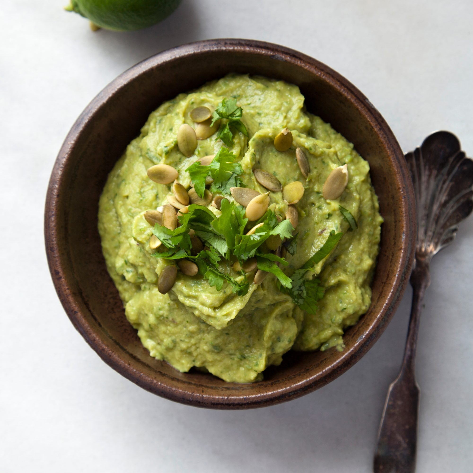 Spicy Poblano-Avocado Hummus