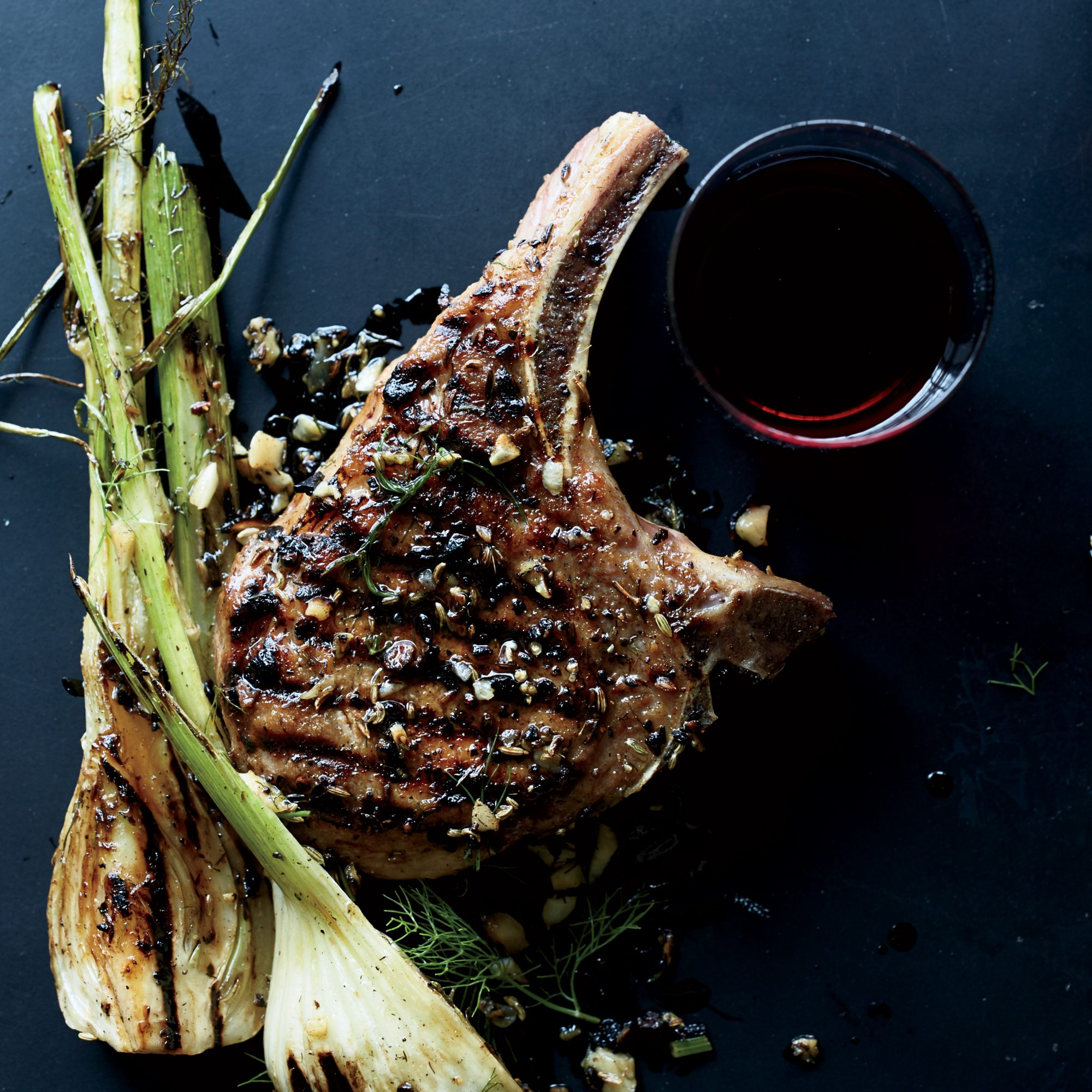 Pork Chops with Fennel and Juniper