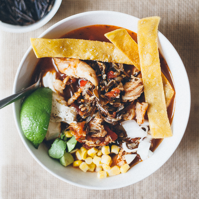 Tortilla Soup with Wild Rice