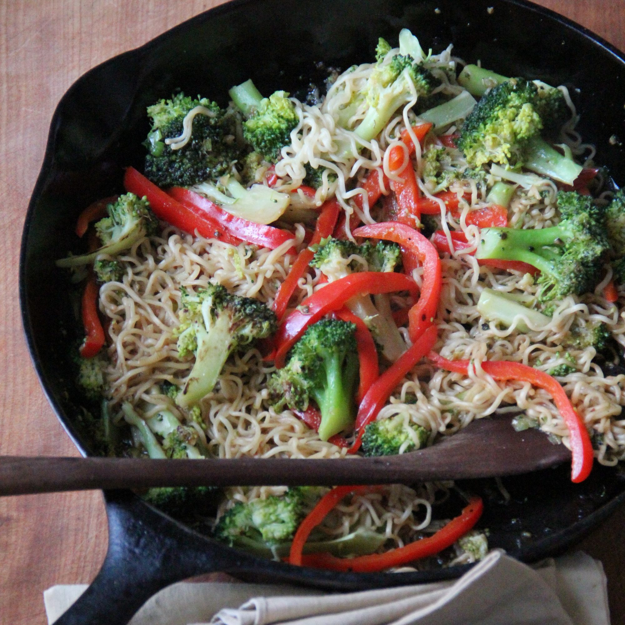 Ramen Broccoli Stir Fry