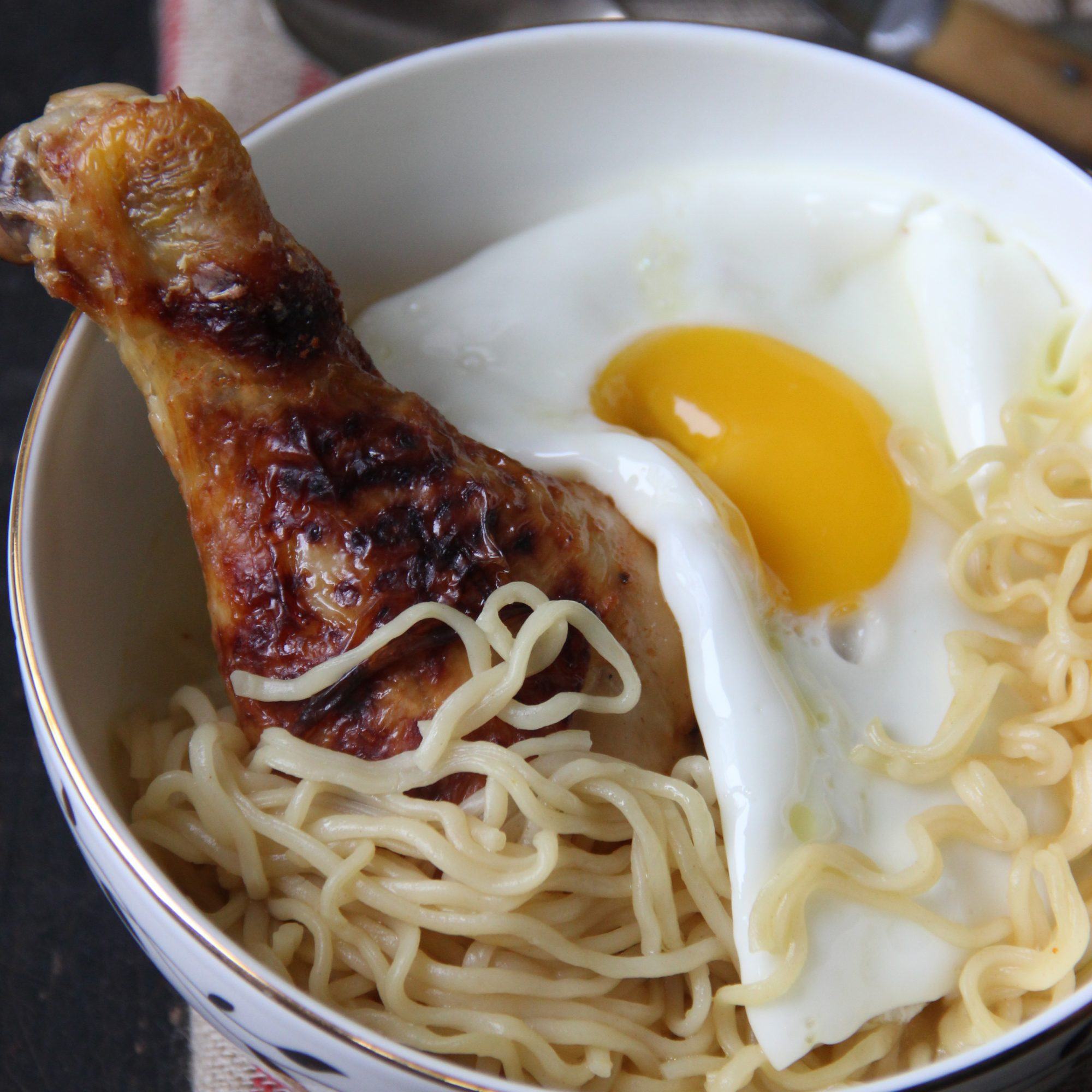 Roast Chicken Ramen with Fried Eggs