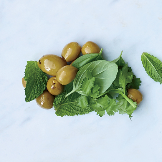 DIY Romaine Salad Green Olives