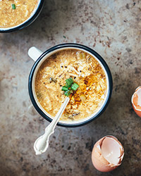 Vegetarian Hot and Sour Soup with Egg