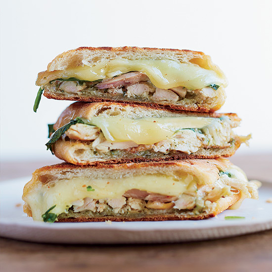 Chicken Panini with Spinach and Pesto