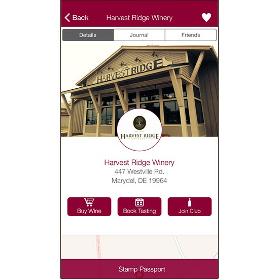Digital Wine Guide: Winery Passport